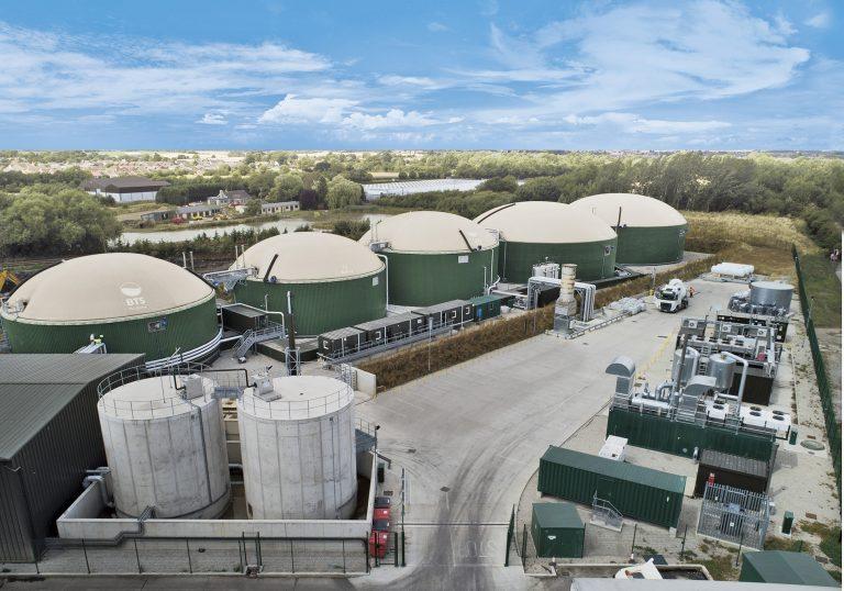 BTS Biogas waste to biomethane plant