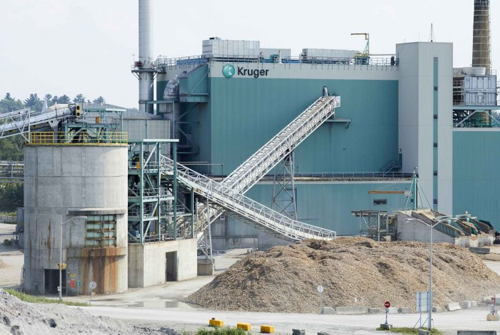 Kruger Specialty Papers Bromptonville biomass facility. Image credit: Kruger Specialty Papers