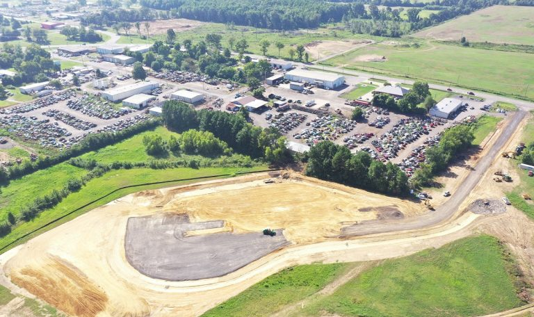 Site cleared in Russellville for Drax's second satellite pellet plant in Arkansas